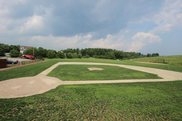 Baseball diamond from side