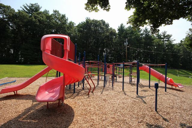 Slide, jungle gym of playground