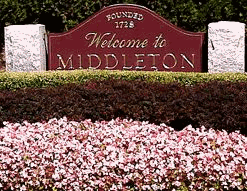 Middleton Welcome Sign